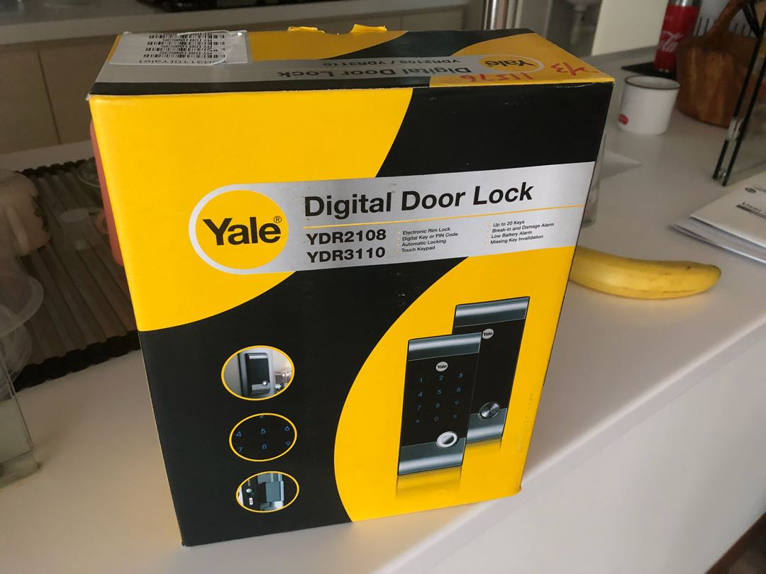 Yale digital door lock (rim lock)