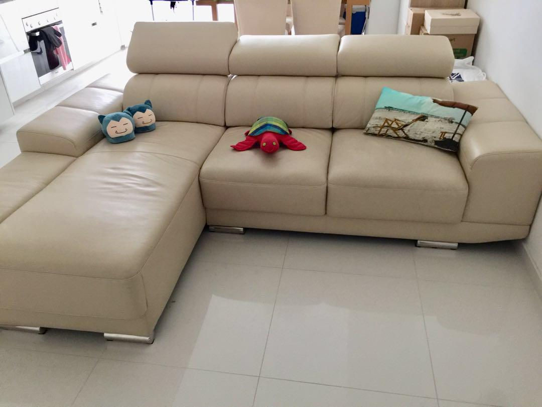 Zolano Leather L Shaped 3 Seater Sofa Furniture Sofas On Carousell