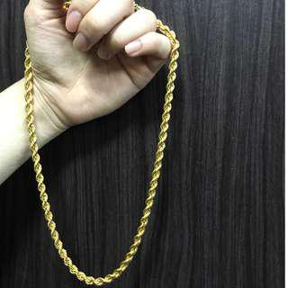 916 GOLD CHAIN (THICKNESS) LAST PRICE TO CLEAR!
