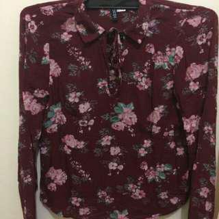 H&M flower blouse