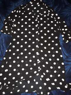 Polkadots  polo shirt dress