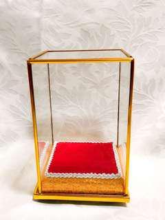 Amulet Buddha Statue Glass Display case ( square )