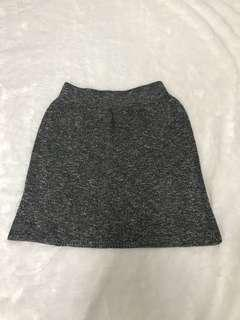 Knitted grey bodycon skirt