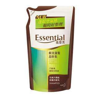 Essential逸萱秀瞬效蓬鬆易吹乾洗髮乳補充包(550ml)