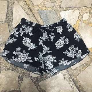 New Look Floral Drawstring Shorts