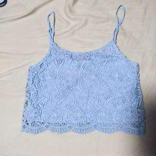 H&M baby blue cami