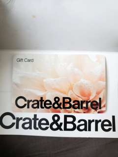Crate and Barrel $100 Gift Card