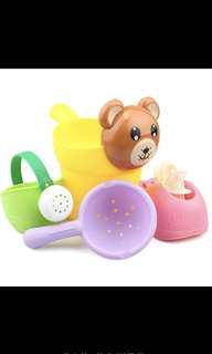 兒童洗澡玩具寶寶小熊玩水戲沙花灑水壺套裝
