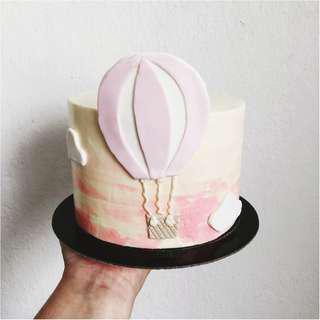 Hot Air Balloon Theme Cake