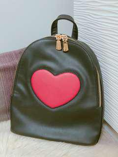 Paddini Vincci Black Heartshape Backpack