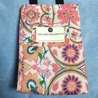 Roxy Pink Floral Insulated Lunch Bag