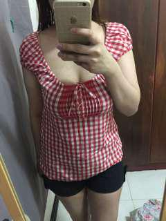 checkerd blouse