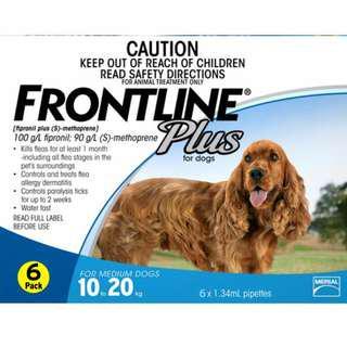 BRAND NEW Frontline Plus Medium Blue Pipette