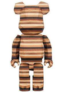 Wooden Layered Bearbrick -limited edition-