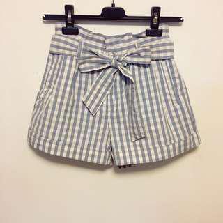 Lowry Farm checker shorts