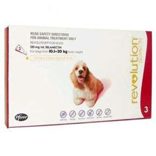 Revolution For Dogs 10.1-20KG 3's Red BRAND NEW