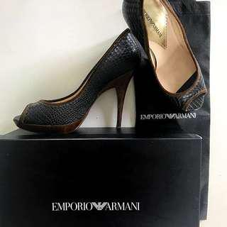 [Free Shipping] Emporio Armani Python Embossed Leather