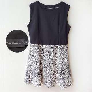 The Executive Leopard midi dress