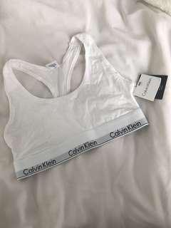 BNWT Calvin Klein White Bralette size M