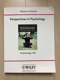 Psychology 105: Perspectives in Psychology by Wiley