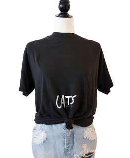 Vintage CATS tshirt 1980's