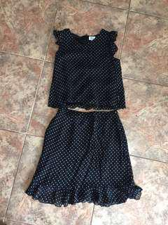 Armani Junior Polka Dot Skirt and Top S