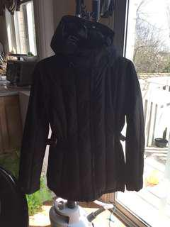 GAP Down Filled black hood jacket coat size M