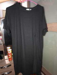 Black Long Slit Shirt