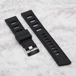 [20/22mm] JET BLACK SILICONE STRAPISO STRAP