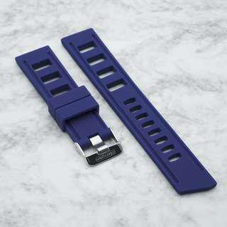 [20/22mm] ROYAL NAVY SILICONE STRAPISO STRAP