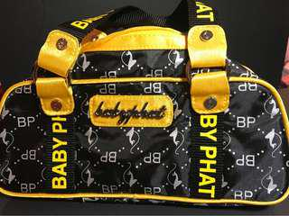Throwback Baby Phat yellow and black doctor style hand bag