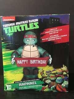 Teenage mutant ninja turtles Raphael happy birthday inflatable