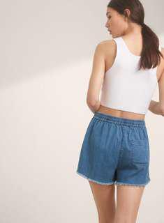 Aritzia Wilfred free LT denim shorts
