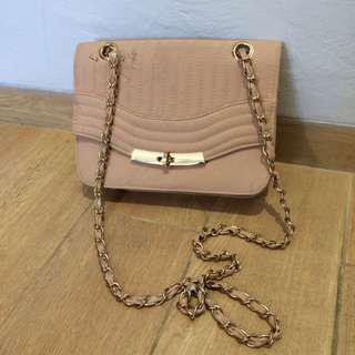 New Look Original Authentic 100% - nude pink sling bag