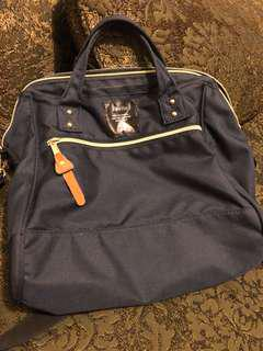 Anello Boston Bag - Navy Blue / Large