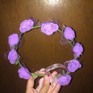 Purple Spring Flower Crown