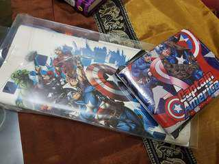 Captain America Wallet + FREE Avengers Decal
