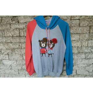 SKYBLUE PINK TWO TONE HOODIE