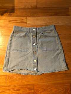 French connection mini denim skirt