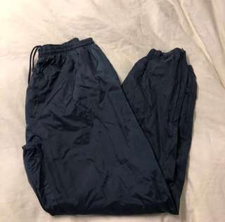 Vintage Navy Blue Windbreaker pants