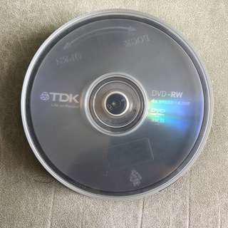 全新TDK DVD-RW 4X Speed 4.7GB 合共8隻