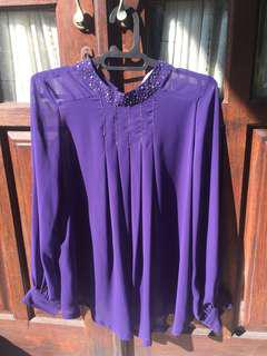 Payet purple blus
