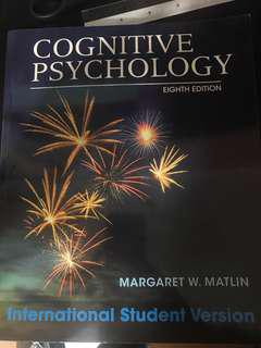 (NEW) Cognitive Psychology, 8th edition by Wiley