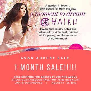 August Avon Sale