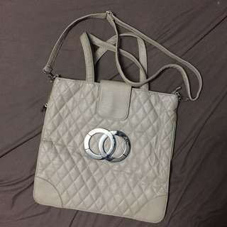 Cream Tote Bag with Sling