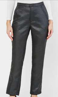 Aere Zaylee Textured Pants in Black