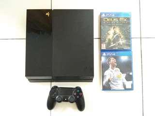 Playstation 4 PS4 Fat 500gb (game not included)