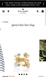 Kate Spade Queen Bee Bee Ring