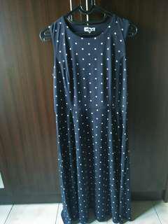 Baju dress polkadot