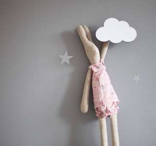 New Imported Nordic Style Wooden Cloud Wall Hook Decor